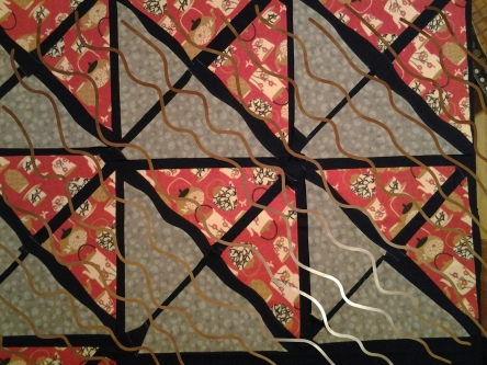 Quilting lines pattern - Wavy