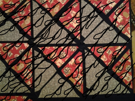 Quilting lines pattern - Wavy, squiggly boxes, or raindrop-ish