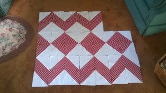 Red-White, center blocks